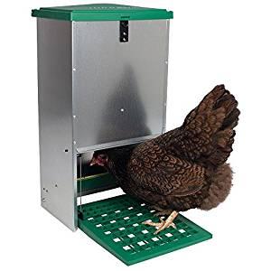 Futterautomat für Hühner, verzinktes Stahlgehäuse